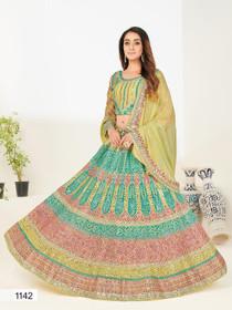 Green color Georgette Fabric Lehenga Choli