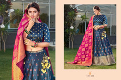 Royal Blue color Silk Fabric Lehenga Choli
