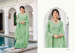 Light Green shade Faux Georgette Fabric Suit