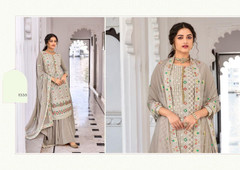 Grey shade Faux Georgette Fabric Suit