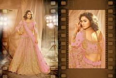 Pink color Embroidered Net Fabric Lehenga Choli