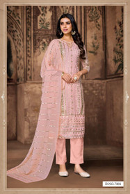 Pink color Heavy Georgette Fabric Suit