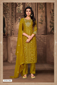 Green color Heavy Georgette Fabric Suit