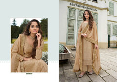 Brown color Chinnon Fabric Suit