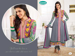 Elegant Grey Georgette Suit