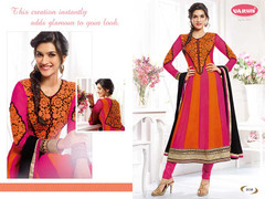 Elegant Orange & Magenta Georgette Suit