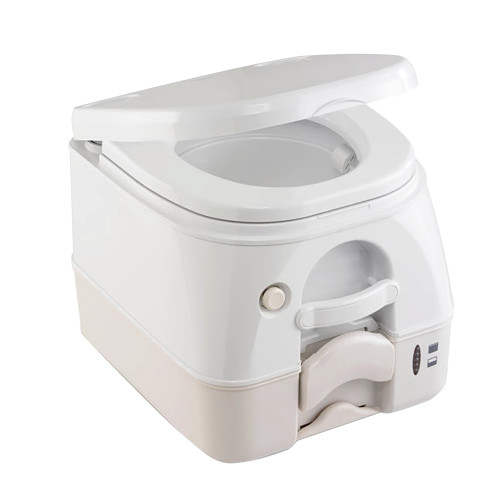 Dometic - SeaLand 974 Portable Toilet 2.6 Gallon - Tan w\/Brackets [301097402]