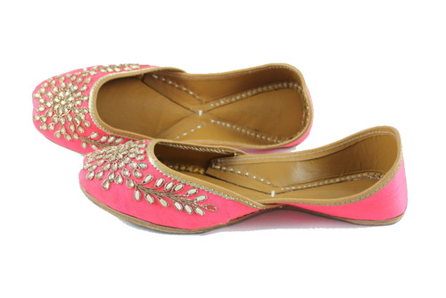 Awesome Pink Handmade Pure Leather Jutti5