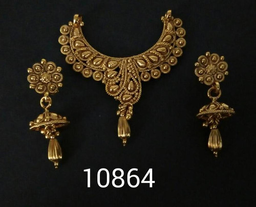 Amazing Gold Plated Mangal Sutra Set1180