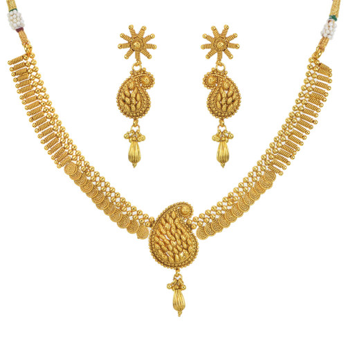 Stunning Gold Plated Necklace Set1942