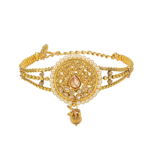 Stunning Gold Plated Pearl & Stone work Armlets2026