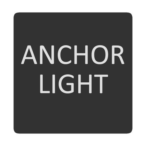 Blue Sea 6520-0035 Square Format Anchor Light Label [6520-0035]