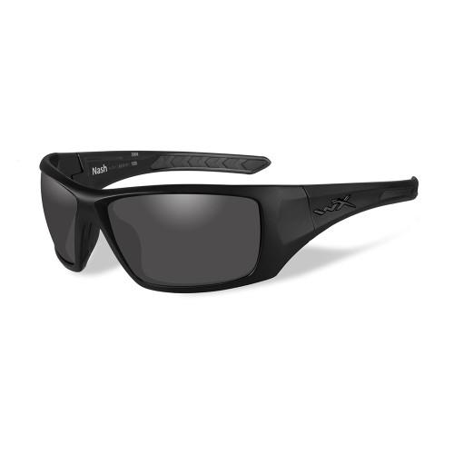 Wiley X Nash Sunglasses - Polarized Smoke Grey Lens - Matte Black Frame - Black Ops [ACNAS08]