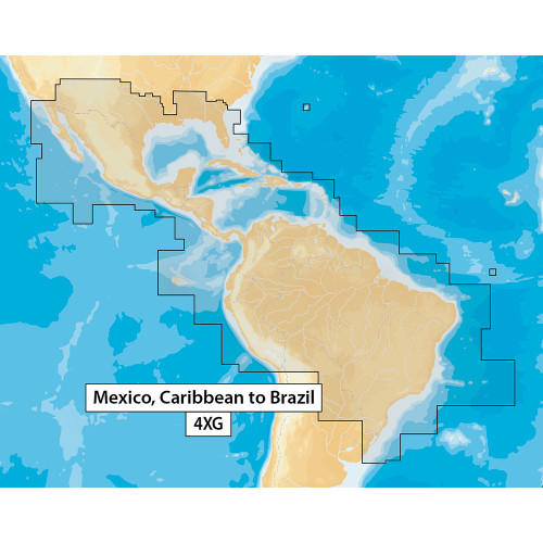 Navionics Navionics+ MSD\/NAV+4XG Mexico, Caribbean to Brazil - microSD Format [MSD\/NAV+4XG]