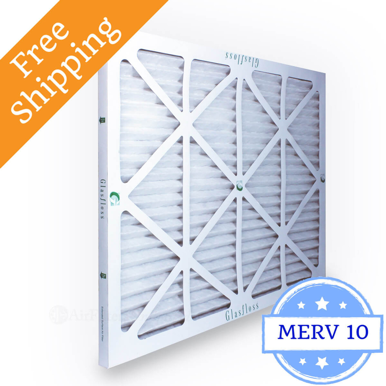 6 Pack 16x20x4 Merv 8 Furnace Filter by Glasfloss Industries