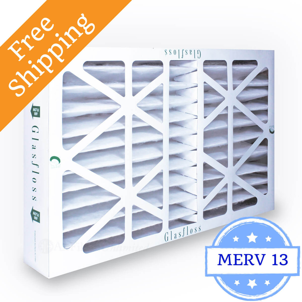 25x25x1 Ultimate Allergen Merv 13 Replacement AC Furnace Air Filter 6 Pack