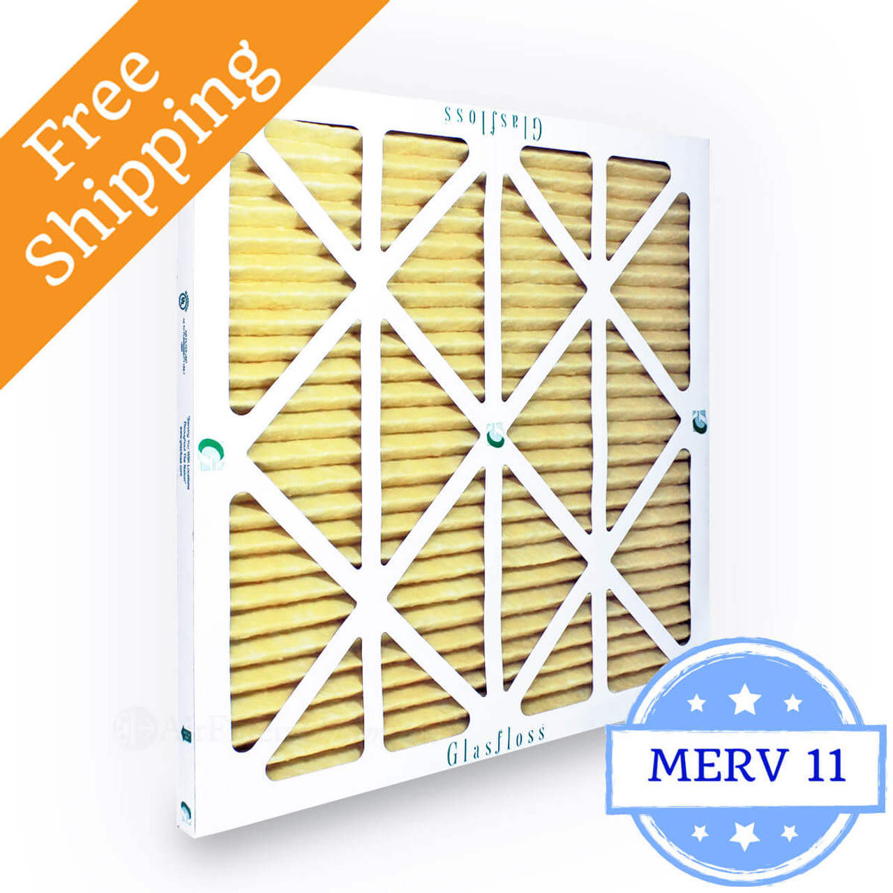 by Glasfloss Industries 12 Pack 24x24x1 Merv 11 Furnace Filter