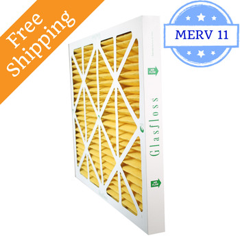 20x25x2 Air Filter MERV 11 Glasfloss Z-Line