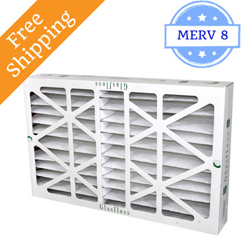 20x25x6 Z-Line HV Pleated Air Filters MERV 10 - Glasfloss