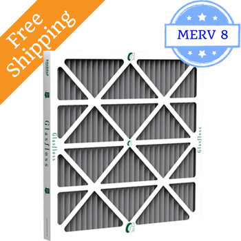 16x24x1 Air Filter with Odor Reduction MERV 8 by Glasfloss