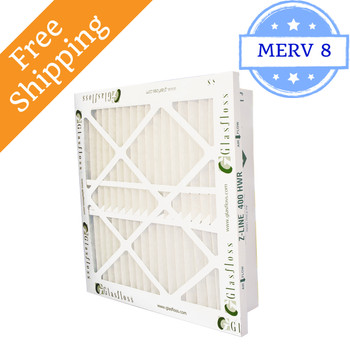 16x25x4 Z-Line HWR Pleated Return Grille Filters MERV 8 - Glasfloss