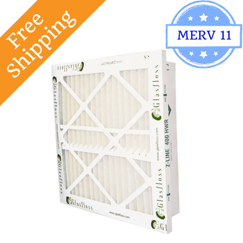 12x24x4 Z-Line HWR Pleated Return Grille Filters MERV 11 - Glasfloss