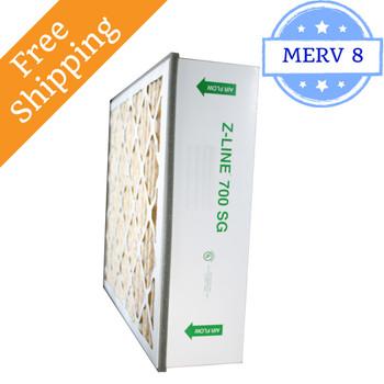 20x25x6 SGP20256AC 700 SG MERV 10 #201 Carbon Replacement - Glasfloss