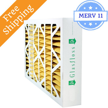 16x25x4 Air Filter MERV 11 Glasfloss Replacement for Honeywell - Box of 5