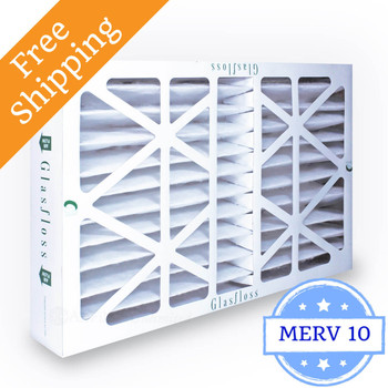 20x25x4 Air Filter MERV 10 Glasfloss Replacement for Honeywell - Box of 5
