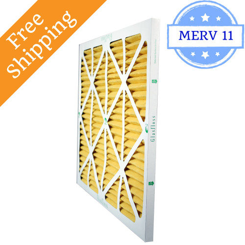 28x28x1 Air Filter Merv 11 For Geothermal Glasfloss Box