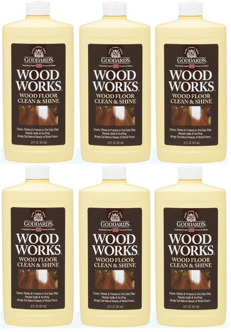 Goddard's Wood Works & Wood Floor Clean & Shine 6 Pack