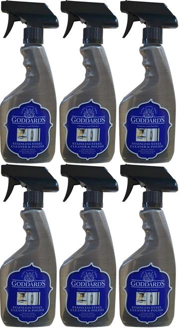 Goddard's Stainless Steel Cleaner 6 Pack