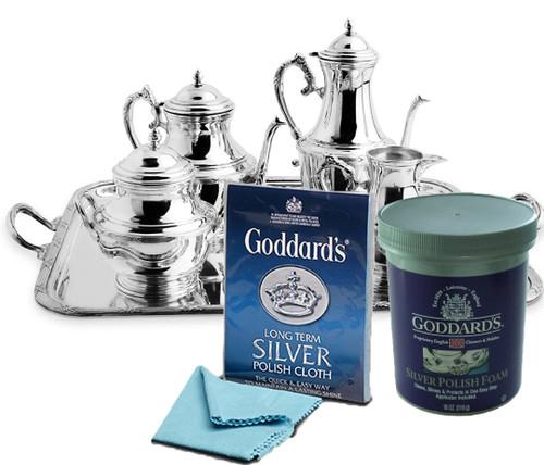 Goddard's Silver Pad Foam 510 gram & Silver Cloth