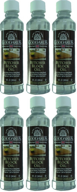 Goddard's Butcher Block Oil 240ml 6 Pack