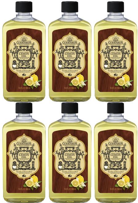 Goddards Cabinet Makers Lemon Furniture Oil 6 pack