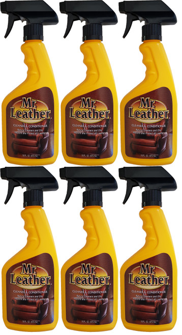 Mr. Leather Spray Leather Cleaner and Conditioner 6 Pack