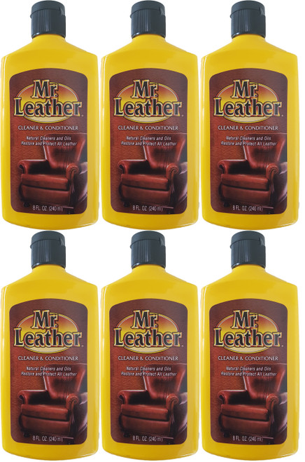 Mr. Leather 240ml Leather Cleaner and Conditioner 6 Pack