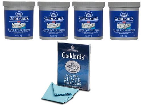 4 Goddard's Long Term Silver Pad Foam With A Free Silver Cloth