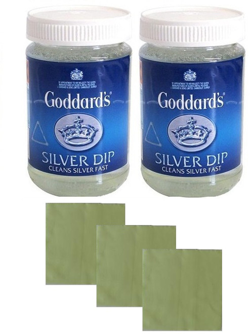 2 GODDARDS SILVER DIPS WITH A FREE JEWELLERY CLOTH SET