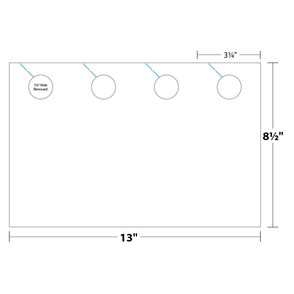Door Hanger measurements and dimensions - 4-up