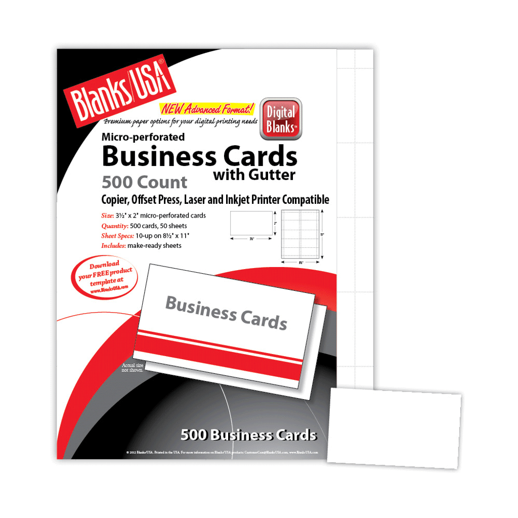 """Business Cards, 10-up on 8.5"""" x 11"""""""