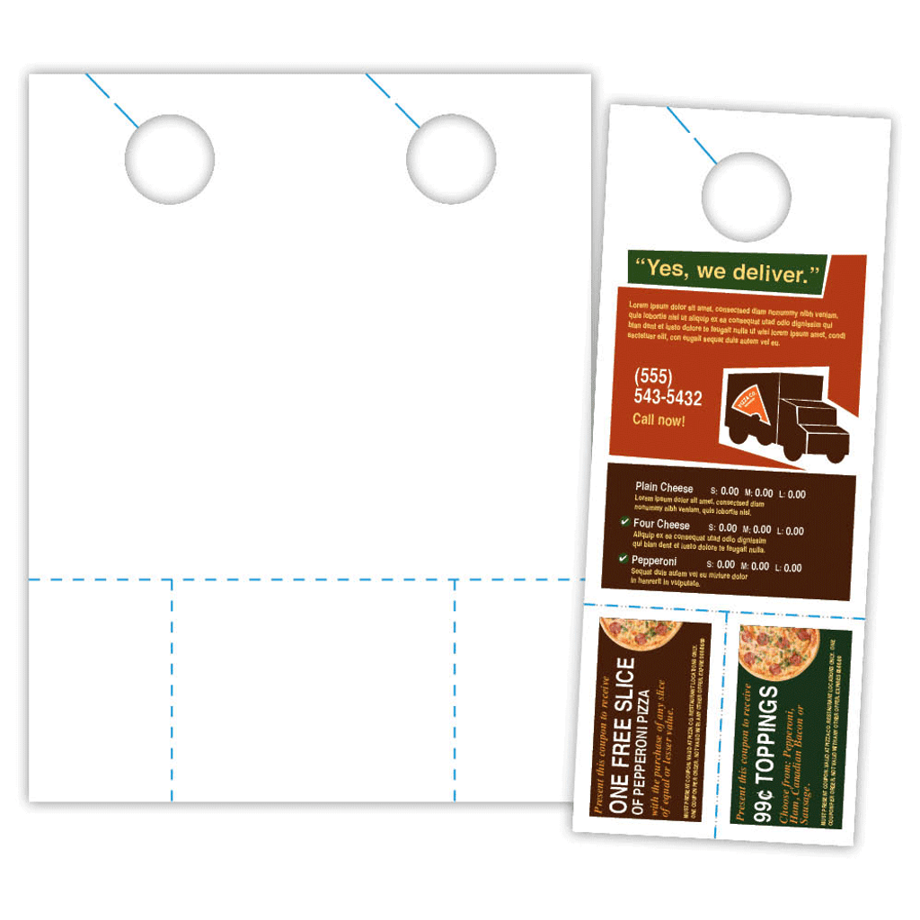Door Hanger sample and sheet.