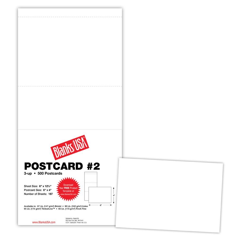 "Postcard #2, 3-up on 6"" x 12.5"" sheet"