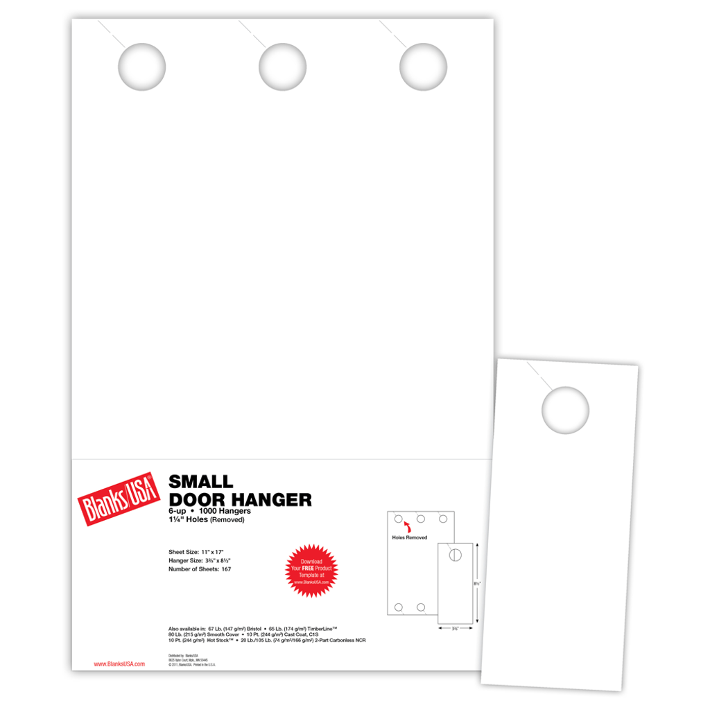 Small Door Hanger Dhs 6 Cl Blanks Usa