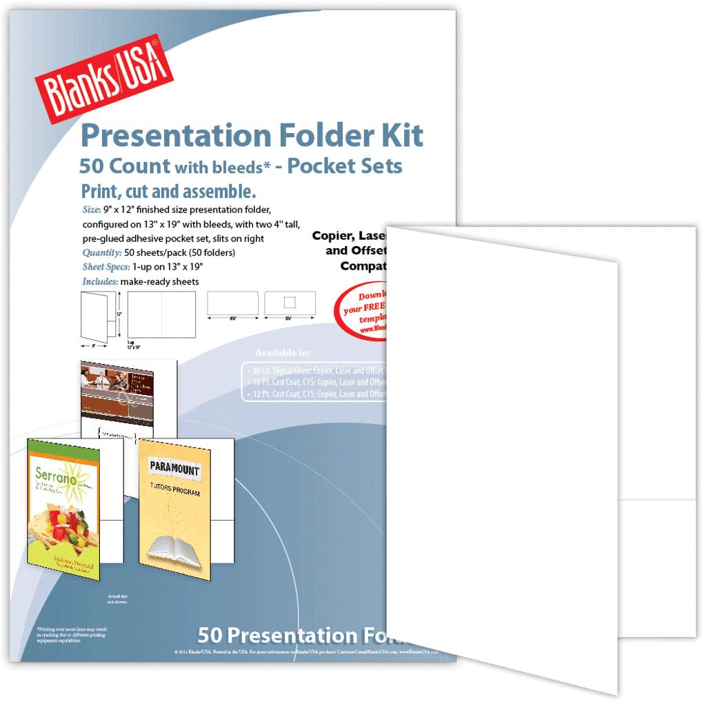 """9"""" x 12"""" Digital Presentation Folder with two pockets"""