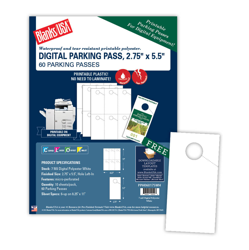 photograph about Printable Parking Pass titled Micro-Perforated Parking P