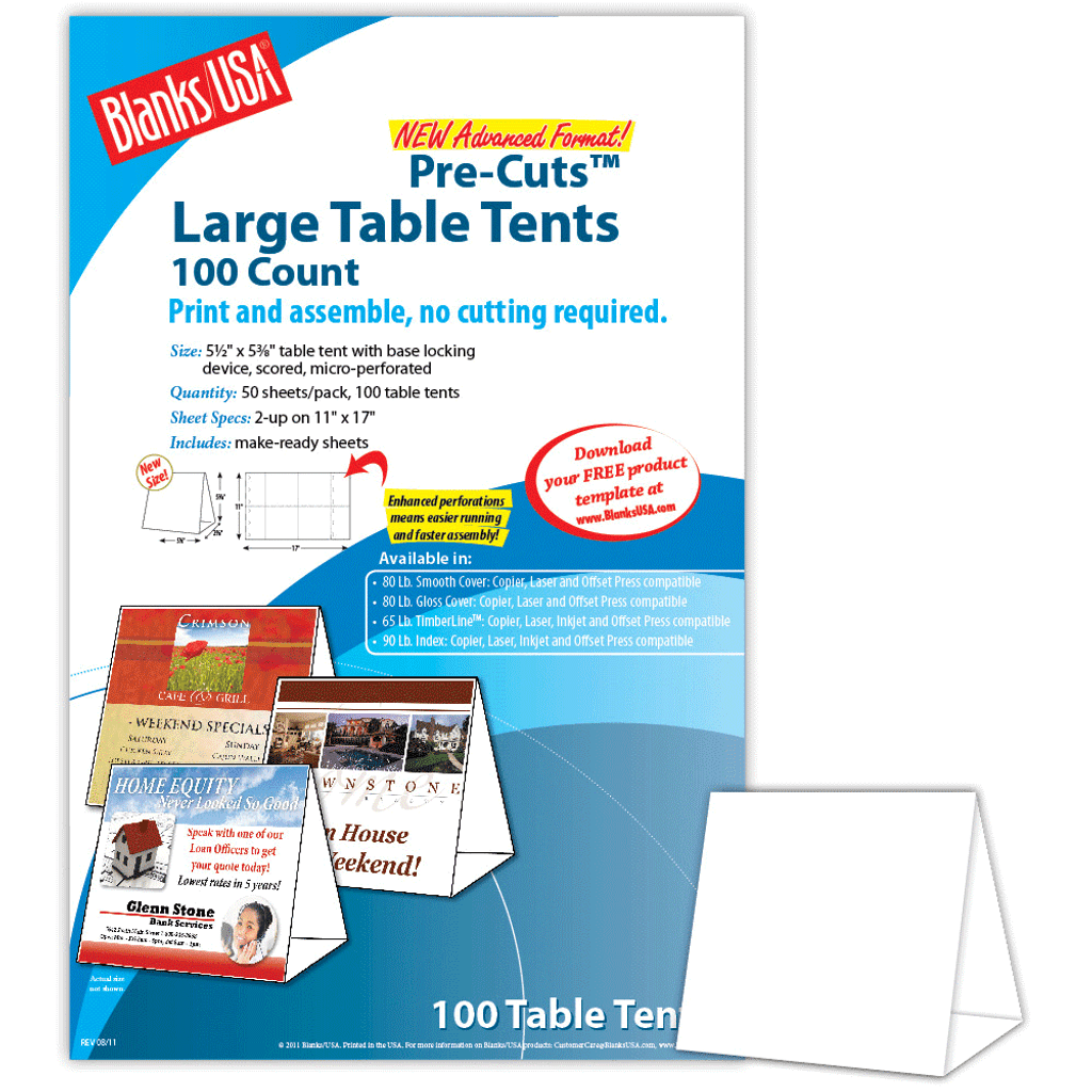 5 5 u0026quot  x 2 625 u0026quot  x 5 375 u0026quot  table tent