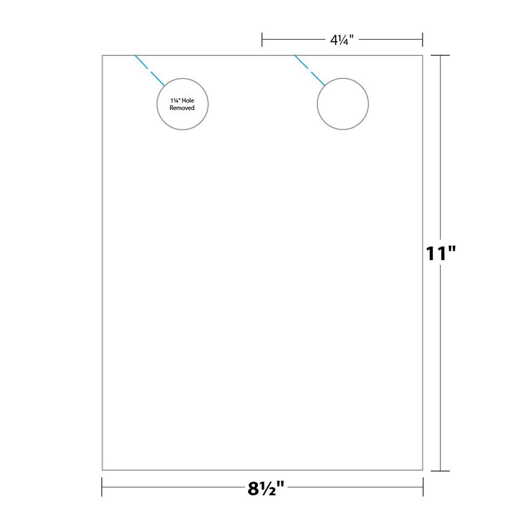 Door Hanger measurements and dimensions.