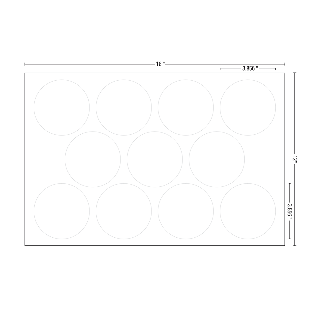 Circle Drink Coaster - Sheet Template