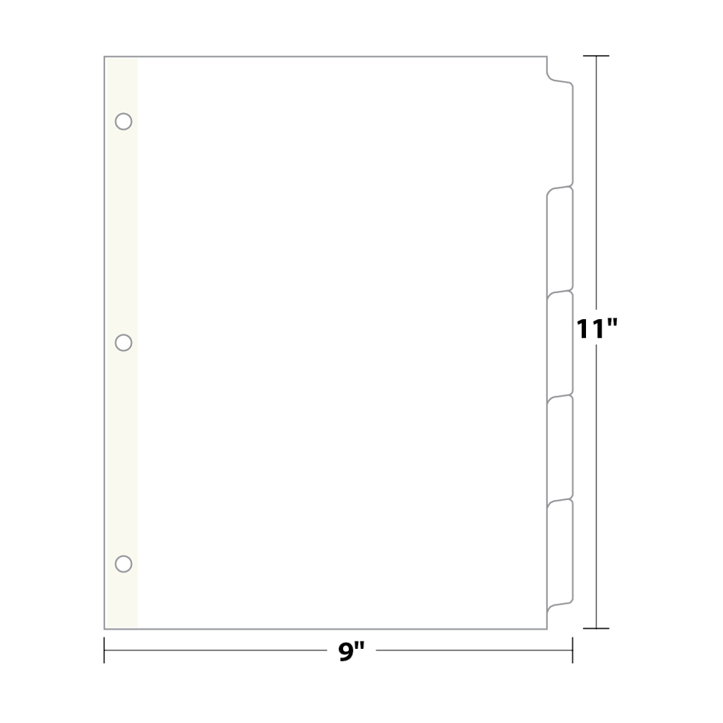 5 bank copytabs tab dividers ct5 blanks usa. Black Bedroom Furniture Sets. Home Design Ideas